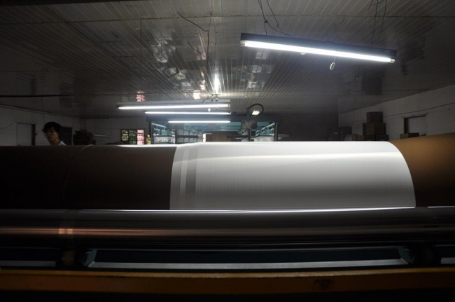 Polyester screen printing mesh production