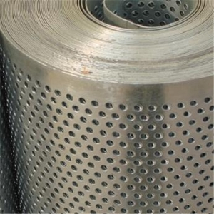 Perforated metal roll plate