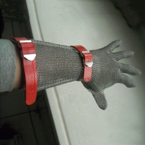 Long type stainless steel glove