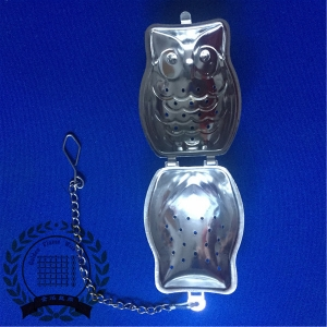 SS Owl Shape Tea Infuser With Small Plate