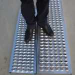 Anti slip perforated metal sheet